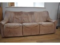 Three Seat Leather Sofa