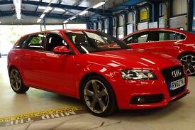 Audi A3 SPORTBACK TDI S LINE SE (brilliant red) 2012