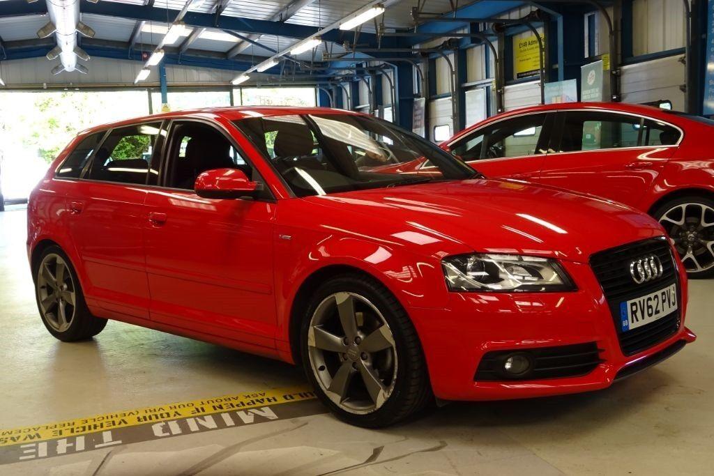 Audi A3 SPORTBACK TDI S LINE SE brilliant red 2012  in Reading