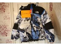 Supreme The North Face Mountain Baltoro Jacket Blue/White All Sizes