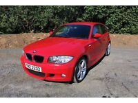 "08 BMW 118D M SPORT 3DR 6 SPEED ++ HALF LEATHER , 18"" ALLOYS , £30 ROAD TAX & FULL MOT ++"