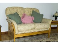Quite new Two seater settee and matching chair