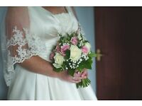 2 tiered cathedral length veil