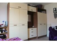 4 Door Wardrobe with Vanity Unit & Top Storage
