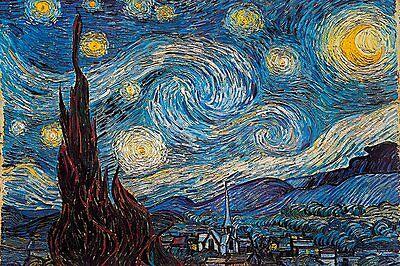 STARRY NIGHT - VAN GOGH ART POSTER 24x36 - 45022
