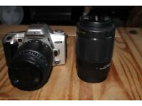 MINOTLA 404SI DYNAX 35MM CAMREA WITH 2 LENSES