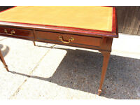 HOBBS & CO Large Antique Console Table writing desk with Power Sockets