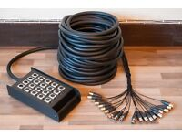 STAGE BOX / MULTI CORE 30 metres , 16/4 sends & returns , XLR , used once - ideal for stage & studio