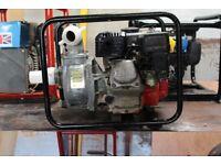 "Honda petrol water pump 2"" with lay flat hose serviced"