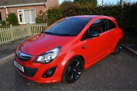 2012 Vauxhall Corsa SRI 1.4 Petrol Red Manual 3dr - Complete Service History - 50,000 Miles