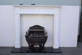 Lovely Fire Basket With Wooden Surround! Comes Complete and only £140 #06
