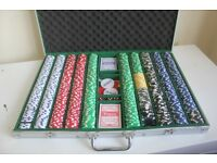 Large Set of 1000 Poker Chips in Aluminium Carry Case