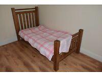 Single Bed - Wooden + Mattress