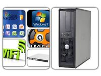 DELL 755 SFF SLIM DUAL CORE PC [ WiFi(300mbps)+DVD RW+WINDOWS 7+160 GB +4GB RAM+OFFICE7+ANTI VIRUS