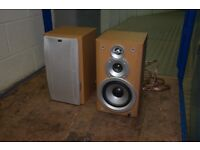 Stereo that has TAPE and CD. JVC European Plug Each Speaker of 60W. Nice wood and elegant.