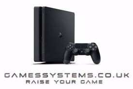 Upgrade your PS3 Xbox 360 or Wii + 3 games & get a brand new PS4 Slim 500GB + 1 game from £199.99!