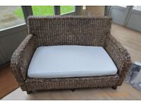 Four Piece Distressed Rattan Patio Furniture