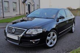 Volkswagen Passat 1.9 TDI Black 2007 Diesel Saloon Full Service History Cheapest in the UK