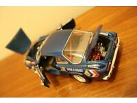 Renault Alpine Rally car 1/18th scale Blue metallic with decals