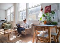Available desks at beautiful & calm shared workspace close to Bethnal Green E2