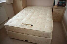 Sleepeezee Senator standard double divan bed in excellent condition.