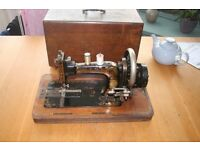 Antique Frister & Rossman sewing machine with case