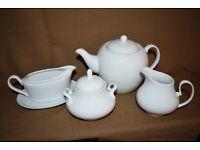 Fine White China Tea Service