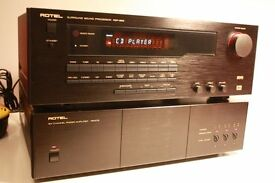 Rotel set of 6 channel amp RB 976 700W max and Digital sound processor preamp RSP 966