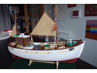 Model fishing boat by billings.