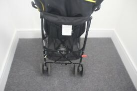 8 wheel very stable stroller. Black and Yellow. Good Condition