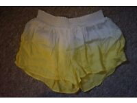Brand New Yellow Topshop with Tags ladies shorts Size Small 6, 8, 10