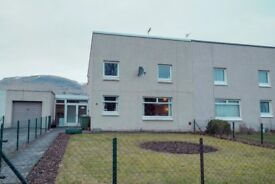 4 bed semi-detached spacious house with garage and large gardens