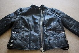 NEW black leather biker/rock jacket,BERSHKA,M,