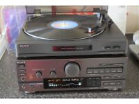 SONY TA-D607 AMP/SONY PS-LX 49P AUTOMATIC RECORD PLAYER