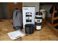 Canon EF 70-200mm f/4L IS USM Lens (MINT)