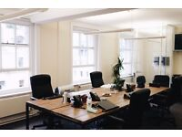 Complete set of office furniture, tables, chairs, study desks, monitors, fridge, air con