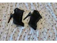Size 3 black Lace Stilettos