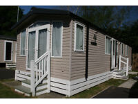 REDUCED Swift Bordaux static caravan sited in St Leanards Dorset 37'x12' Two years old.Two bedroom