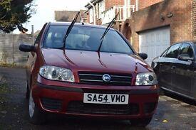 Fiat Punto 2004; RED; low mileage