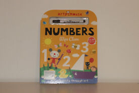 Math improve wipe clean numbers book with pen for age 3+