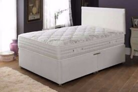 ★★ AMAZING OFFER ★★ DOUBLE DIVAN BED BASE WITH LUXURY 1000 POCKET SPRUNG MATTRESS