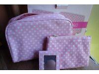 Toilet Bag/Makeup Bag & Mirror Brand New in Box!