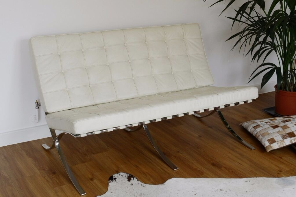 Barcelona chair - two seater leather sofa
