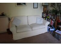 Oakridge Madrid 3 Seater and 2 Seater Sofas with 2 sets of loose covers in Natural and Blue