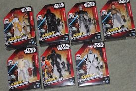 7x STAR WARS HERO MASHERS figures inc ADMIRAL ACKBAR/DARTH VADER/SHADOW TROOPER/BOSSK + more - NEW