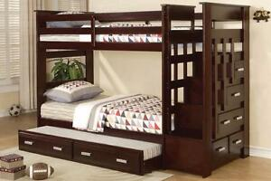 SAVE on new BUNKBEDS,single over single, single over double, GREAT DEALS!