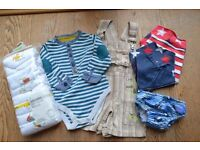 A bundle of baby boy clothes, Size 9-18 months