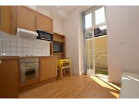 Studio flat available in Shepherds Bush road which includes a private patio