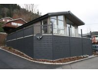 Luxury Lodge at 5* Park.One hour from Glasgow.Loch and Mountain views,restaurants,entertainment ....