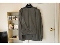 Next Signature Italian Tailored Fit 3 Piece Suit. Light Grey. Jacket 44L & Trousers 38L.
